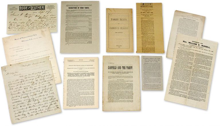 Pamphlets, Circulars, Offprints and Letters Concerning Tariffs. Archive, Tariffs.