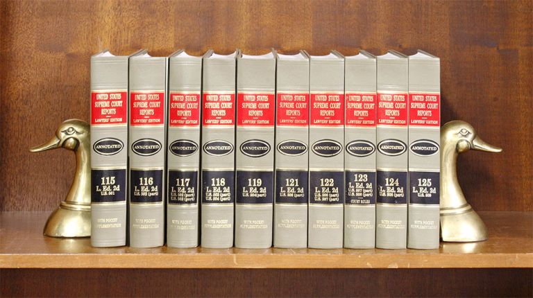 United States Supreme Court Reports, L.ed 2d. 115 to 119; 121 to 125. LexisNexis.