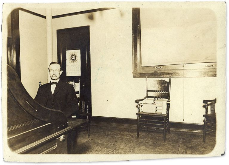 """4-7/8"""" x 6-7/8"""" Black-and-White Press Photograph of a Lawyer in His. Legal Publishing."""