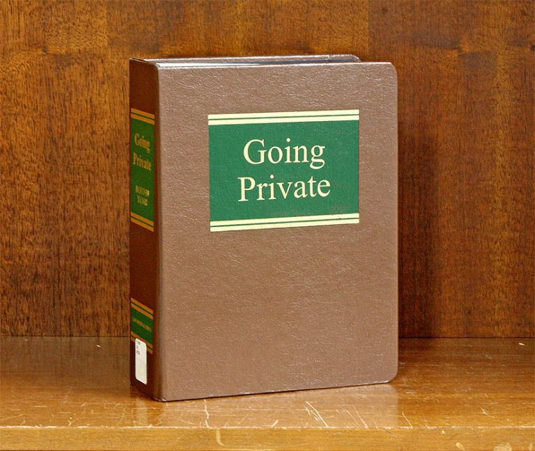 Going Private. 1 Volume. Current through Release 58/October 2019. Arthur M. Borden, Joel A. Yunis.