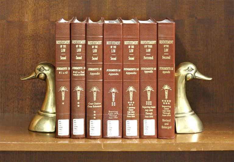 Restatement of the Law 2d. Judgments & App 7 Vols Complete w/2018 supp. American Law Institute.