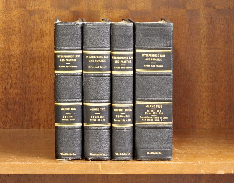 Interference Law and Practice. 4 Vols. Complete set. Charles W. Rivise, A. D. Caesar.