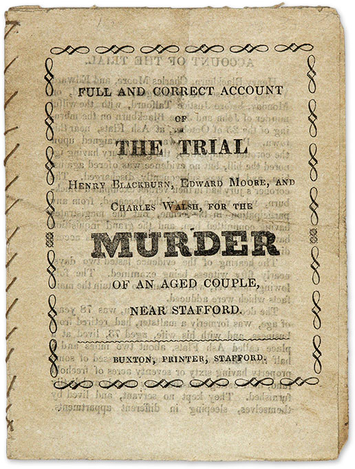 Full and Correct Account of the Trial, Henry Blackburn, Edward Moore. Trial, Henry Blackburn, Edward Moore, C. Walsh.