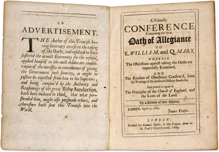 A Friendly Conference Concerning the New Oath of Allegiance to K. Oaths, Great Britain.