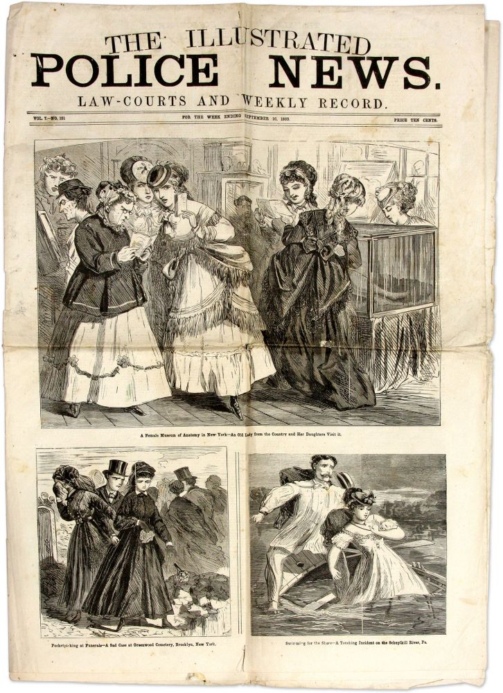 The Illustrated Police News, Law-Courts and Weekly Record. 1869. Crime, Vice, United States.