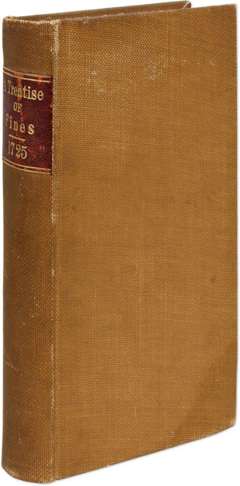 A Compendious and Accurate Treatise of Fines upon Writs of Covenant. William Brown.