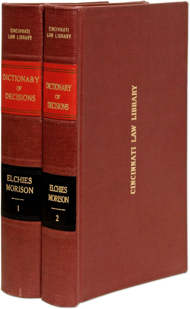 Decisions of the Court of Session, From the Year 1733 to the Year. Patrick Grant Elchies, Lord, William M. Morison.