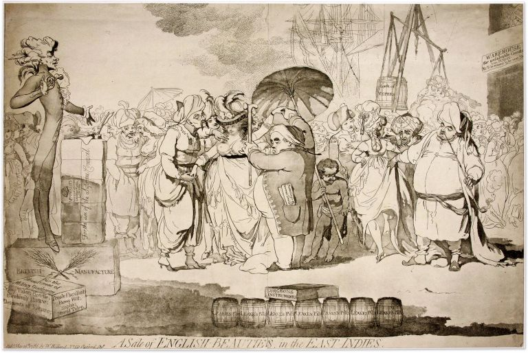 A Sale of English-Beauties, In the East Indies, London, 1786. James Gillray.