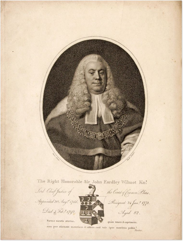 Memoirs of the Life of the Right Honourable Sir John Earley Wilmot. Sir John Eardley Wilmot.