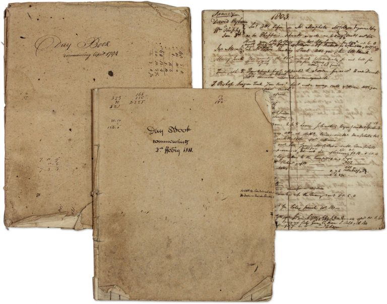 Day Book Commencing April 1794, with 1803 Daybook, and 1811 Day Book. Manuscript, Solicitors, England Kent.