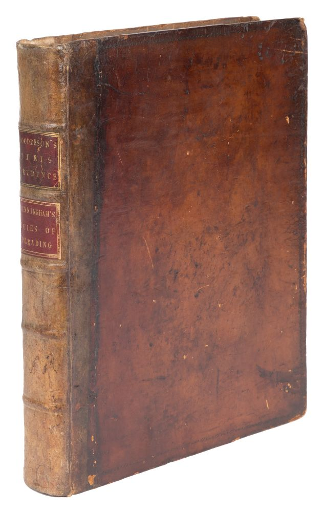 Elements of Jurisprudence [Bound with] Maxims and Rules of Pleading. Richard Wooddeson, Sir Robert. Cunningham Heath.