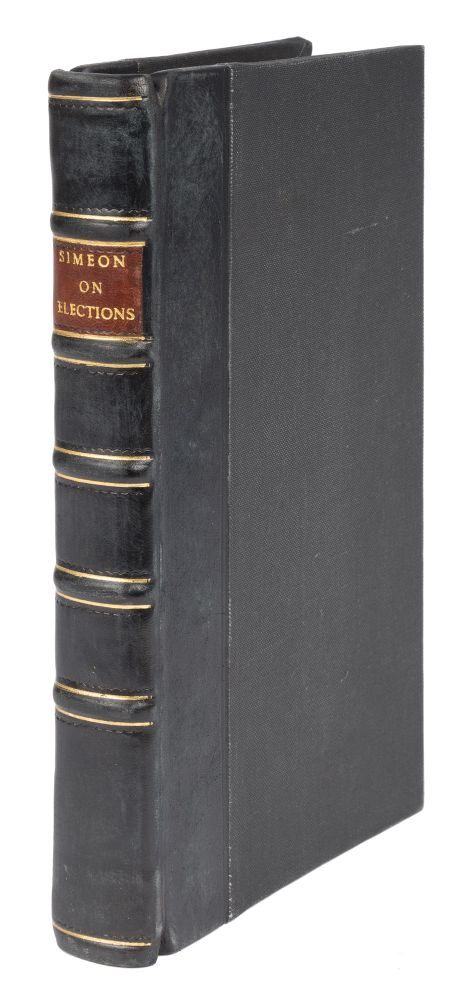 A Treatise on the Law of Elections, In All Its Branches, 1st edition. John Simeon.