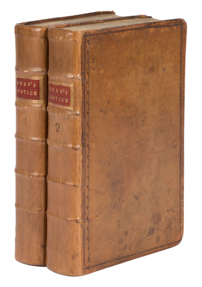 The Justice of the Peace, And Parish Officer. London, 1755. 2 vols. Richard Burn.