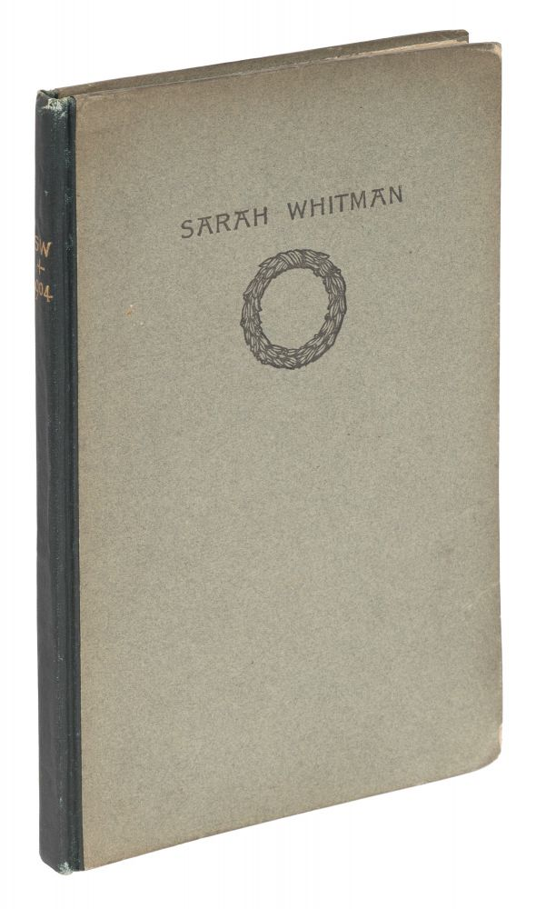 Sarah Whitman, Boston, 1904, Signed by Holmes. Oliver Wendell: Whitman Holmes Jr., Sarah Wyman.