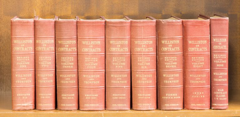 A Treatise on the Law of Contracts. Revised edition. 9 vols. Complete. Samuel Williston, George Jarvis Thompson.