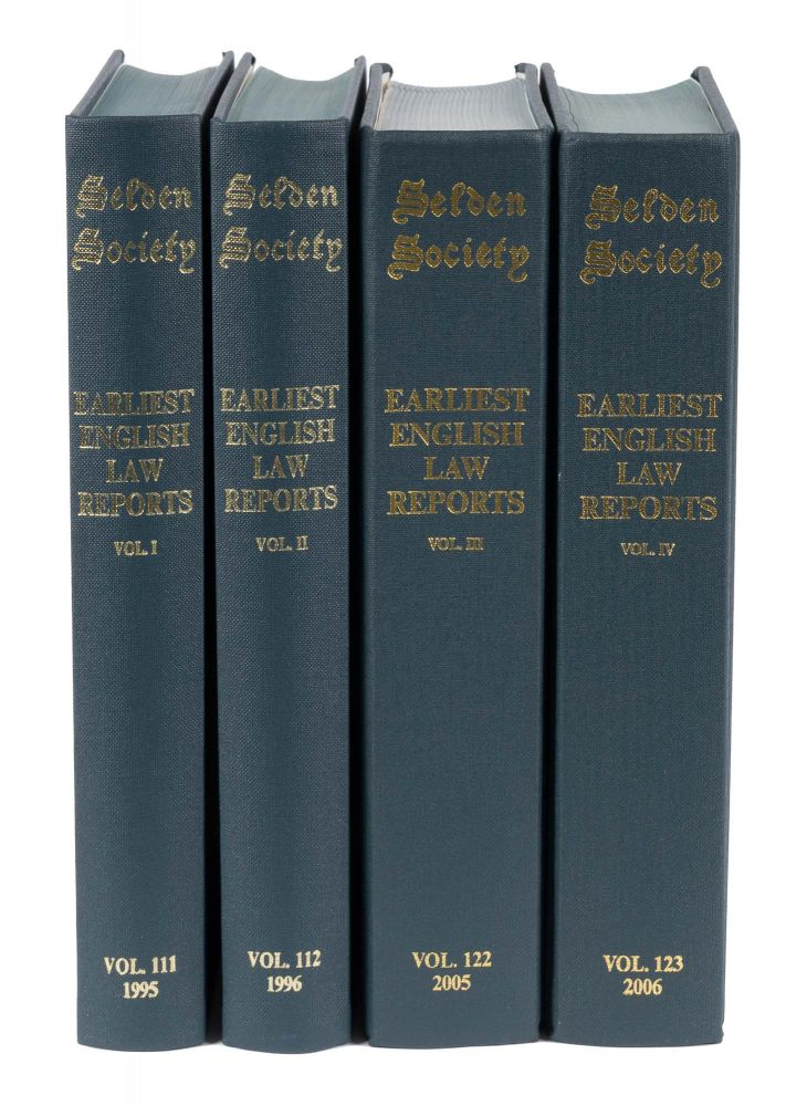 The Earliest English Law Reports. 4 vols. Complete. Selden Society. Brand Paul A.