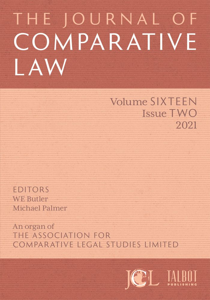 The Journal of Comparative Law. ANNUAL SUBSCRIPTION. Subscription: Individual International Print &Elec.