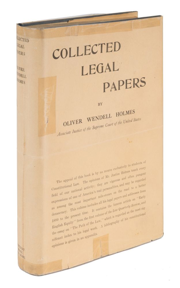 Collected Legal Papers, Early Printing in Original Dust Jacket. Oliver Wendell Holmes.