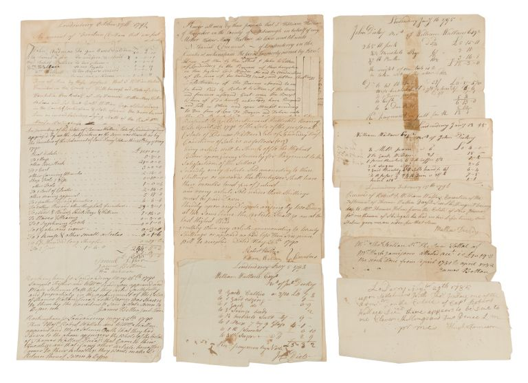 Deeds, Receipts, Estate Inventories and Other Legal Documents, 1780. Manuscript Archive, New Hampshire, Wallace Family.