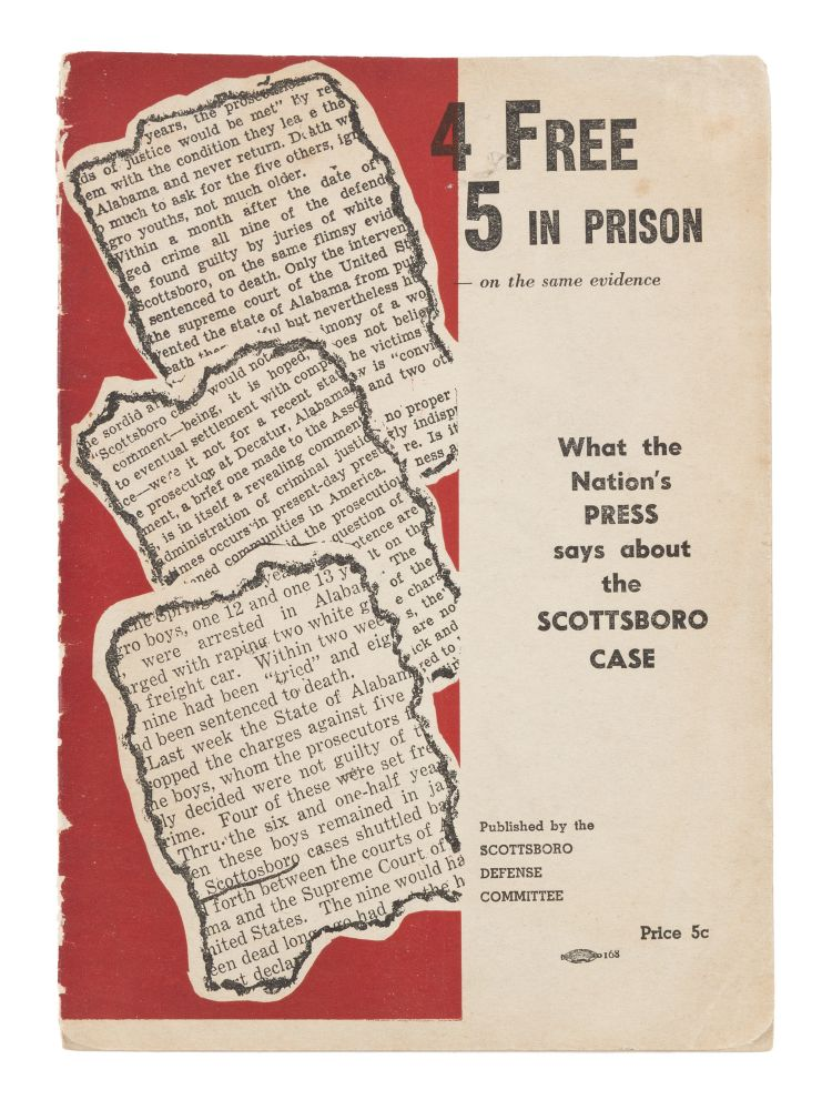 4 Free, 5 in Prison-On the Same Evidence: What the Nation's Press. Scottsboro Defense Committee.