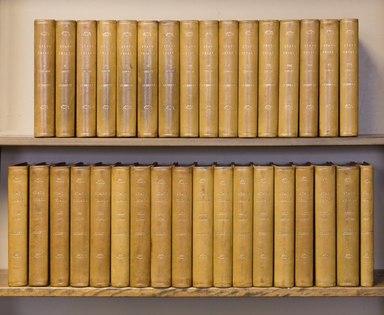 A Complete Collection of State Trials. 34 vols. 1809-1828 Complete Set. Trials, William Cobbett, Thomas Bayly Howell.