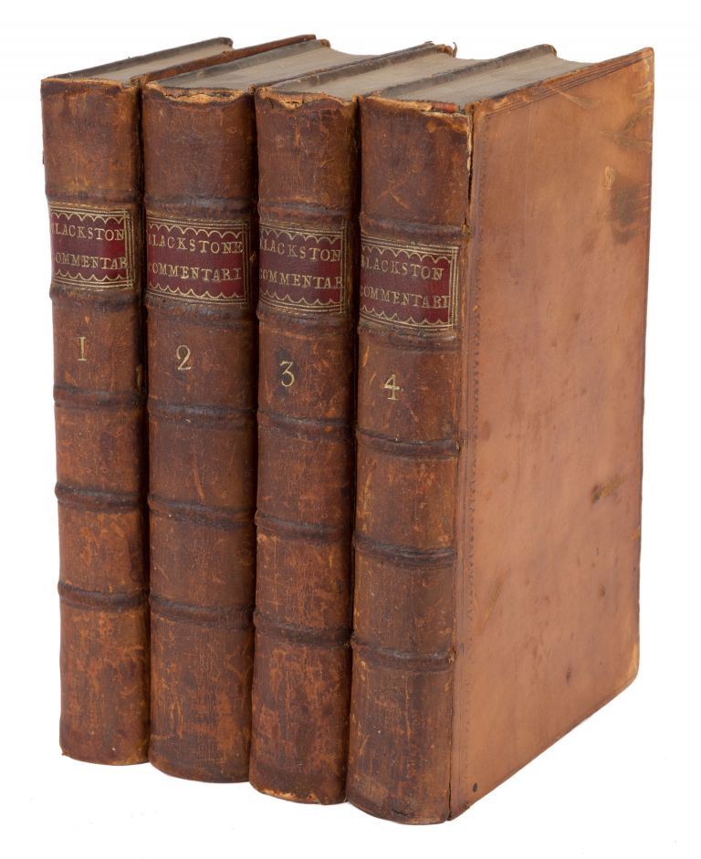 Commentaries on the Laws of England. In Four Books, 5th ed. Eller 7. Sir William Blackstone.