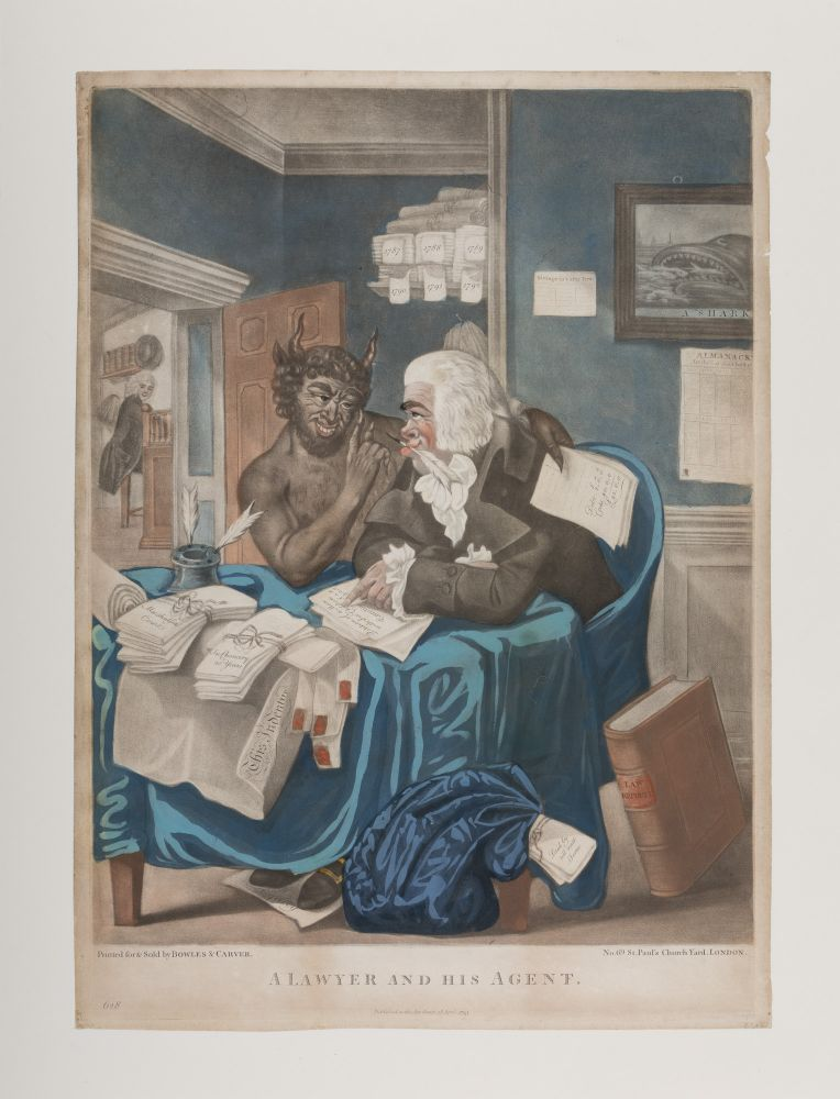 A Lawyer and His Agent. London, Bowles & Carver, 1795. Robert Dighton, Senior.