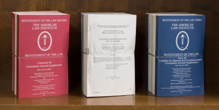 Restatement of the Law. 2021 Pocket Parts & Supplementary Pamphlets. American Law Institute.