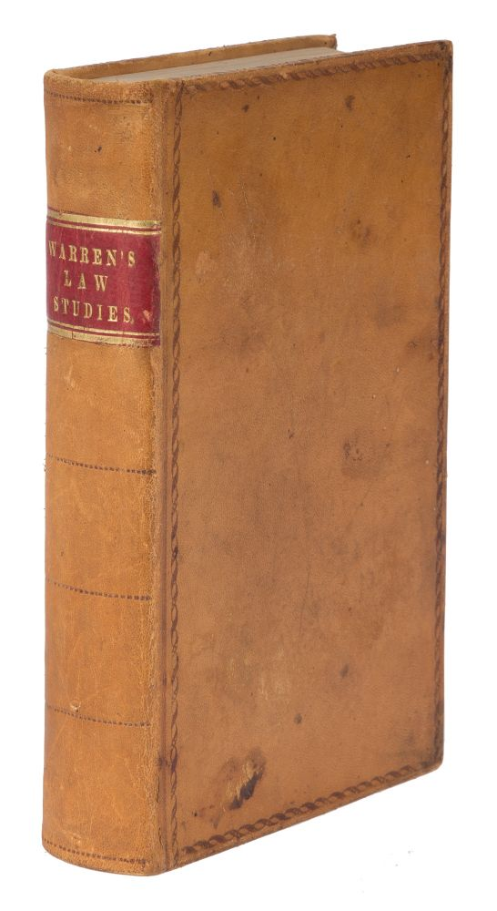 A Popular and Practical Introduction to Law Studies. 1st American ed. Samuel Warren.
