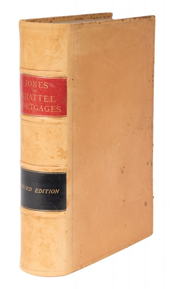 A Treatise on the Law of Mortgages of Personal Property, 3rd ed, 1883. Leonard A. Jones.
