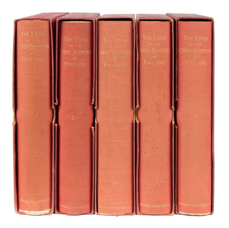 The Lives of the Chief Justices of England. 5 Vols. Northport, 1894. John Campbell, 1st Baron Campbell.