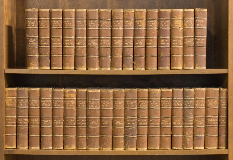 A Complete Collection of State Trials. 34 vols. 1816-1828 Complete Set. Trials, William Cobbett, Thomas Bayly Howell.