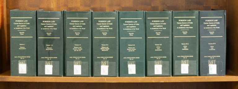 Foreign Law: Current Sources of Codes and Basic Legislation. 8 vols. Thomas Reynolds, Arturo A. Flores.