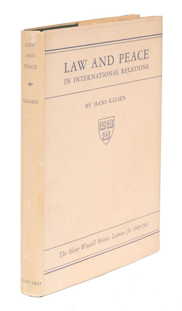 Law and Peace in International Relations. First Edition. Dust Jacket. Hans Kelsen.