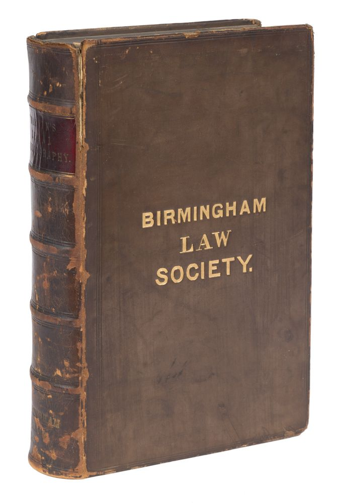 Legal Bibliography, Or a Thesaurus of American English, Irish and. J. G. Marvin, John Gage Marvin.
