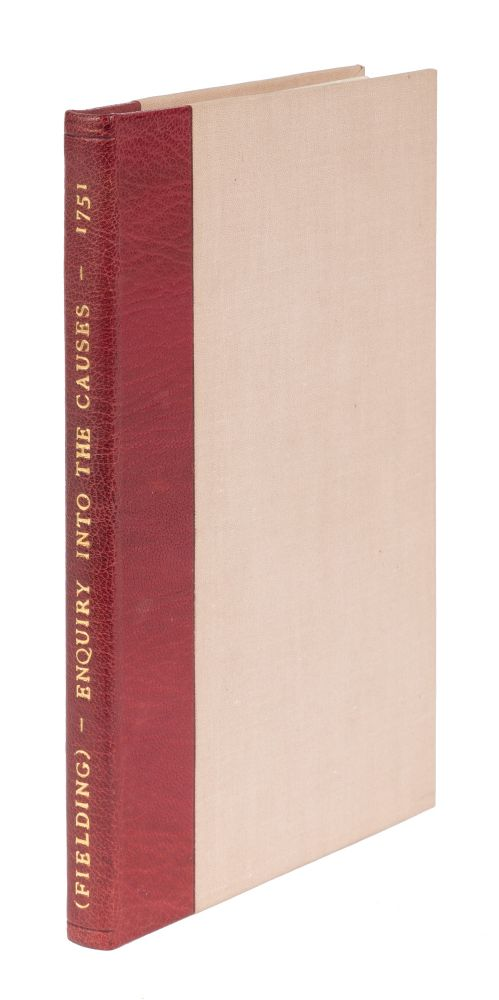 An Enquiry Into The Causes Of The Late Increase Of Robbers, &C. Henry Fielding.