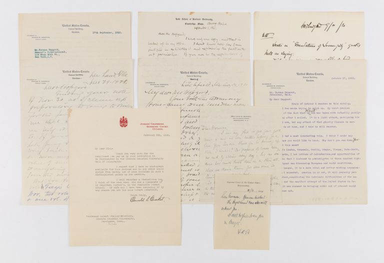 Collection of Nine Items Relating to Brandeis, Civil Rights and. Manuscript Archive, Louis D. Brandeis.