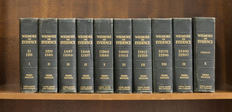 A Treatise on the Anglo-American System of Evidence...3d ed. 10 vols. John Henry Wigmore.