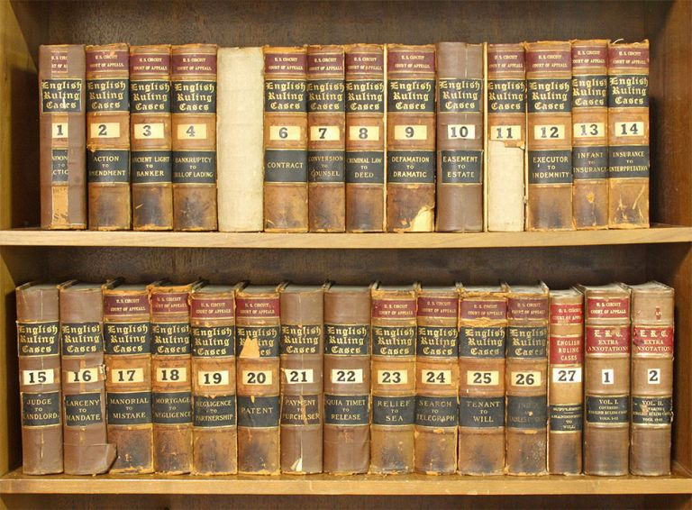 Ruling Cases. (1307-1908) 27 vols. with 2 supplement vols. Complete. Robert Campbell.