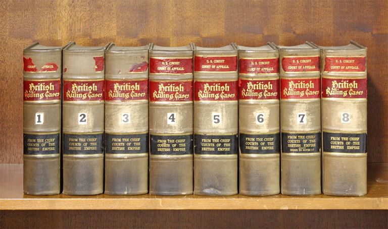 British Ruling Cases. 8 vols. 1900-1911. of 16 published. British Ruling Cases.