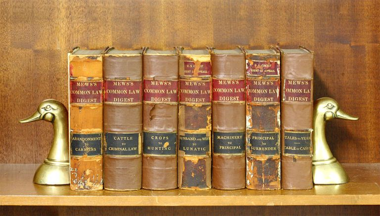 A Digest of the Reported Decisions. 1884. 7 Vols. [Mews Digest]. John Mews.