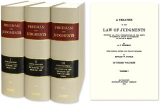 A Treatise of the Law of Judgments 5th ed 3 vols. [Freeman on] Reprint. A. C. Freeman