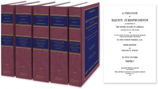 A Treatise on Equity Jurisprudence. 5th ed. 5 Vols. Complete set. John N. Pomeroy, Spencer W. Symons
