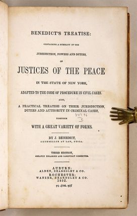 Benedict's Treatise: Containing a Summary of the Jurisdiction...