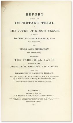 Report of the Late Important Trial in the Court of King's Bench, in. Trial, Henry John Nicholson,...
