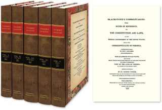 Blackstone's Commentaries With Notes of Reference to the Constitution. Blackstone. Tucker's, St....