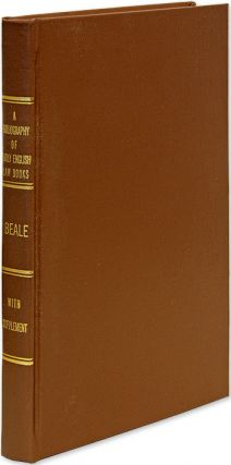 Bibliography of Early English Law Books. with A supplement. Joseph H. Beale, Robert Bowie...