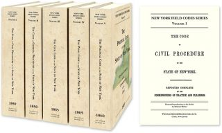 New York Field Codes Series. 1850-1865. 5 Vols. David Dudley Field.