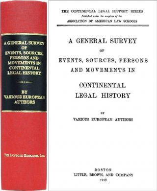 A General Survey of Events, Sources, Persons & Movements in. F. William Maitland, European Authors