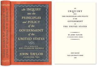 An Inquiry Into the Principles and Policy of the Government of the. John of Caroline Taylor